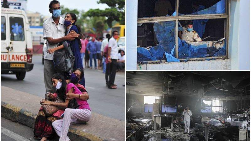 Vijay Vallabh Hospital    Fire Broke In Mumbai ICU